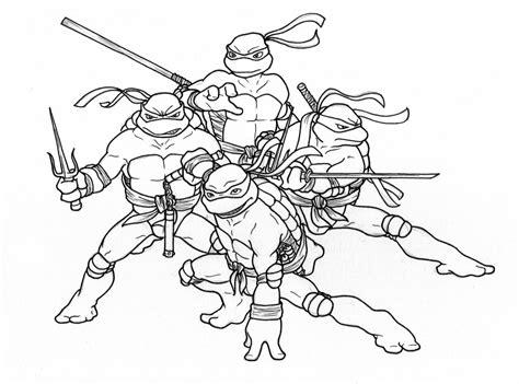 ninja turtles coloring pages kidsuki