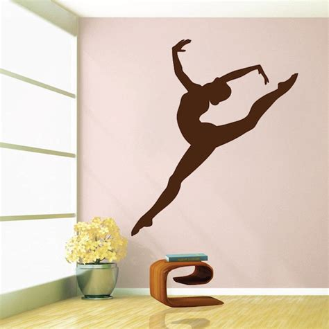 gymnastics girl wall decal living room sofa background