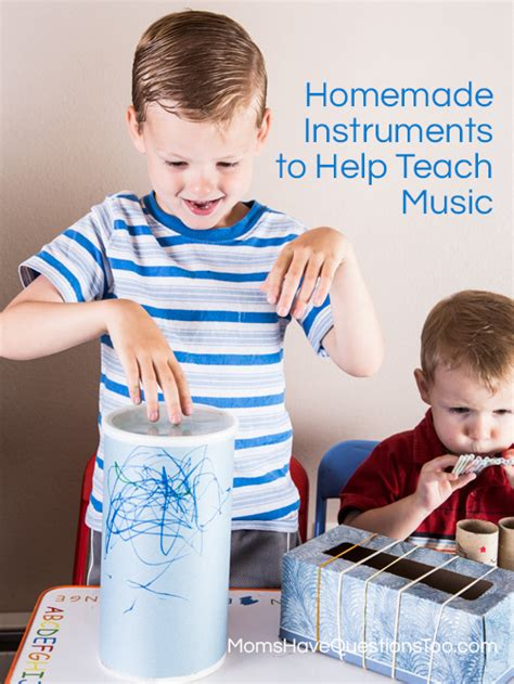 Toddler Music Activity Homemade Instruments  Moms Have Questions Too