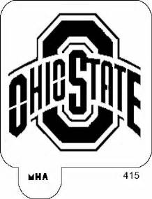 Ohio State Buckeyes Pumpkin Carving Pattern by Mr Hair Art Stencil Ohio State Buckeyes Logo