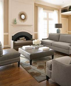 Here you go khaki walls with grey black and white for Home decor for gray furniture