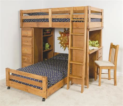 wood bunk bed with desk bedroom useful loft bunk beds with desk bring the best