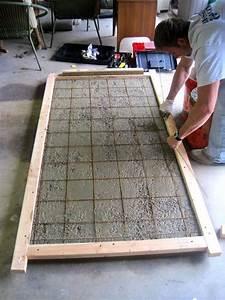 Küche Selber Bauen Beton : building a concrete tabletop patio pinterest tisch beton diy und diy m bel ~ Markanthonyermac.com Haus und Dekorationen