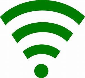 Green Wifi Link Clip Art at Clker.com - vector clip art ...