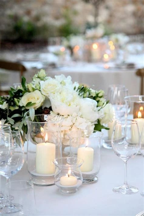 Rose Wedding White Wedding Table Decoration #805679