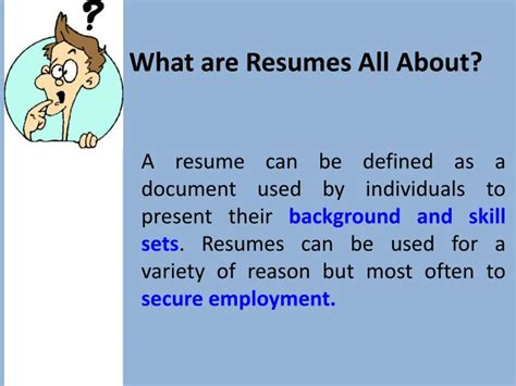 ppt what are resumes all about powerpoint presentation
