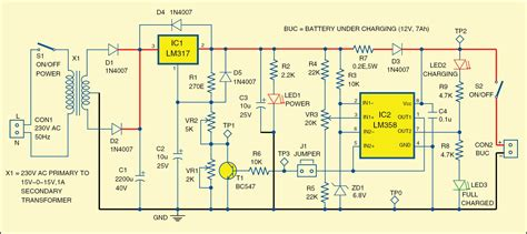 Battery Charger Detailed Project With Circuit Available