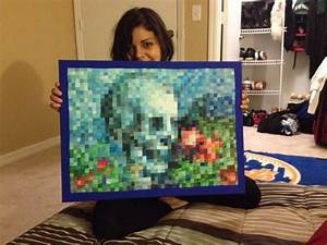Hand-painted in-game Minecraft painting in real life ...