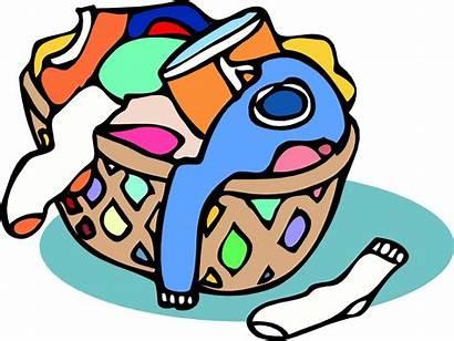 Laundry Clipart Basket Hamper Dirty Clothes Clip