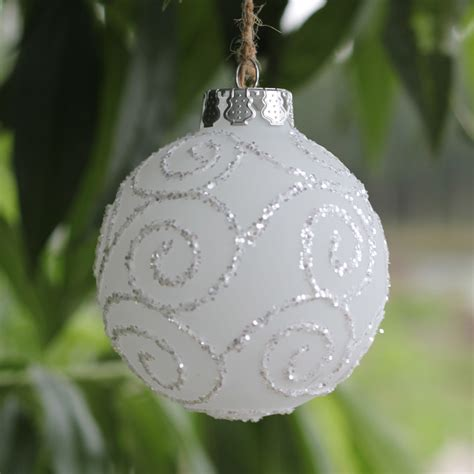 white christmas tree balls popular frosted christmas ornaments buy cheap frosted christmas ornaments lots from china