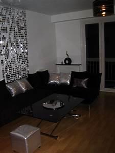 Salle A Manger Noir : d coration salon salle manger noir et blanc ~ Premium-room.com Idées de Décoration