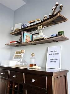 Diy, Live, Edge, Wood, Shelves