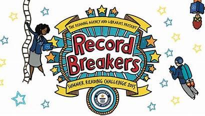 Record Reading Breaking Challenge Clipart Children Summer