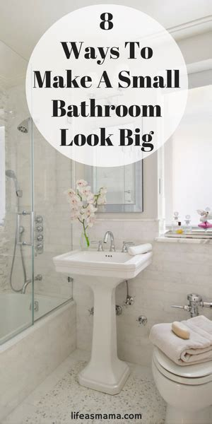 How To Make A Small Bathroom Appear Larger by 8 Ways To Make A Small Bathroom Look Big Tiny Bathrooms