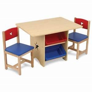 Table Enfant Avec Rangement : table avec 4 bacs de rangement et deux chaises pour enfant ~ Melissatoandfro.com Idées de Décoration