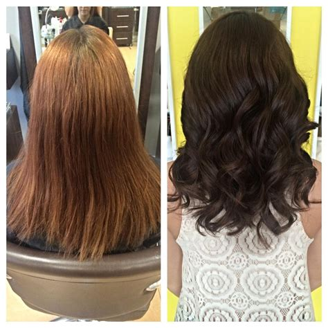 Color Correction Faded Red To Deep Chocolate Career