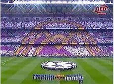Real Madrid vs Juventus Impresionante mosaico en el Bernabéu