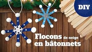 Faire Un Thé Glacé : diy no l fabriquer des flocons de neige avec des b tons ~ Dode.kayakingforconservation.com Idées de Décoration