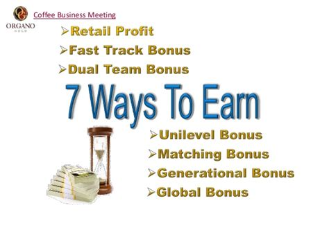 7 Ways To Earn In Organo Gold