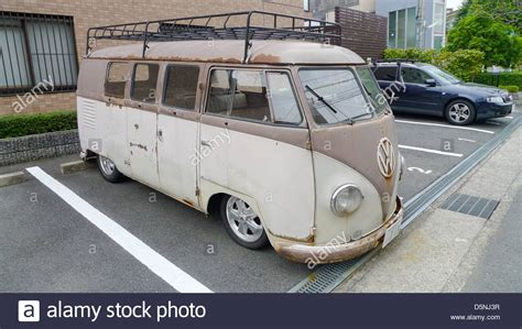 volkswagen old an old vw volkswagen van stock photo royalty free image
