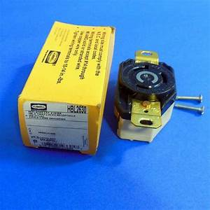 Hubbell 277vac 30a 2pole 3 Wire Twist Lock Receptacle  New