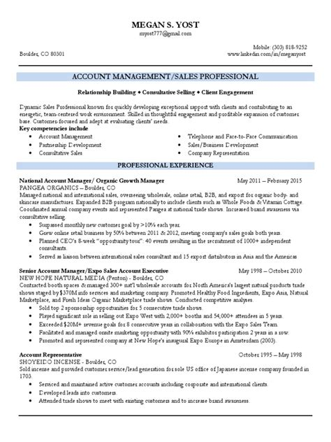 Territory Account Manager Resume by Territory Sales Account Manager In Denver Co Resume Megan Yost Docshare Tips