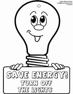 free coloring pages of conserve energy With electric energy