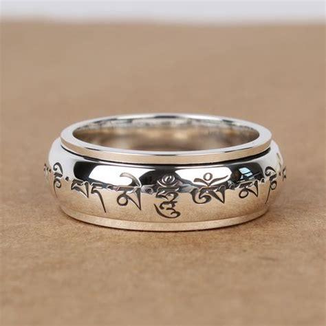 handmade  silver om mani padme hum fashion men women