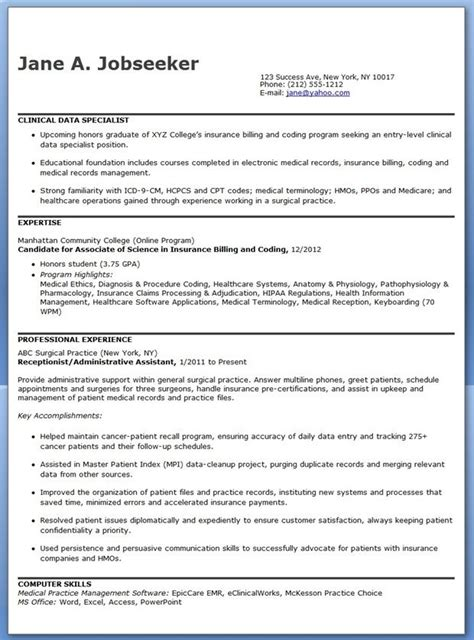 clinical data specialist resume sample resume examples