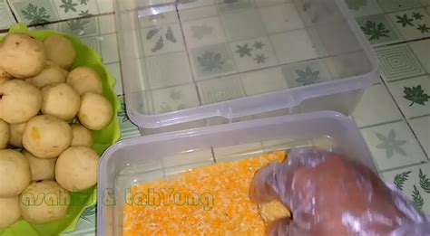 membuat bola ubi crispy isi coklat lumer asahid