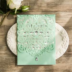 gorgeous mint invitation inspired wedding color combo ideas With laser cut wedding invitations minted
