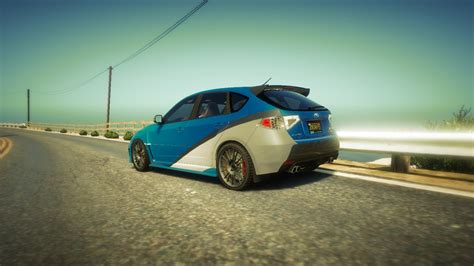 fastest subaru wrx original livery subaru wrx fast and furious 7 gta5 mods com