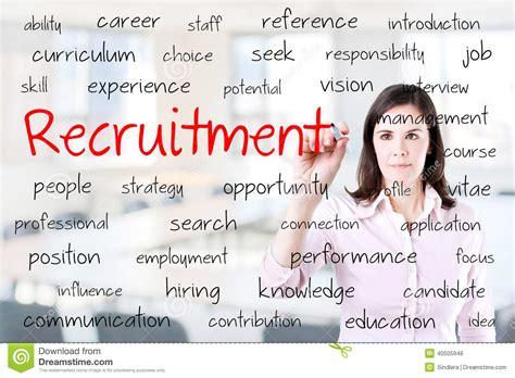 bureau de recrutement concept de recrutement d 39 écriture de femme d