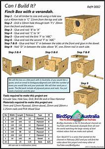 Simple Finch Nest Box