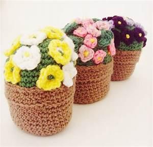 Crochet Flower Pot Posy £23 00, via Etsy Home
