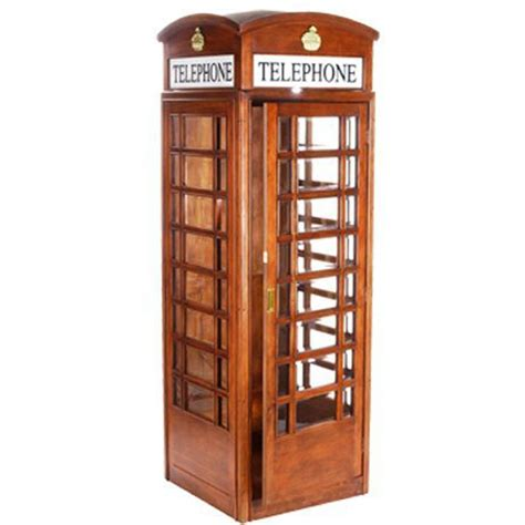 english style telephone booth  mahogany elite home