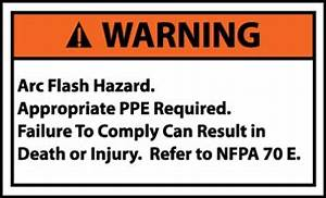 Warning signs arc flash hazard small 5 pack for Arc flash warning signs