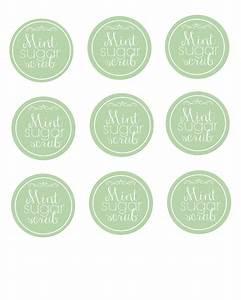 Diy easy mint sugar scrub printable labels for Easiest way to print labels