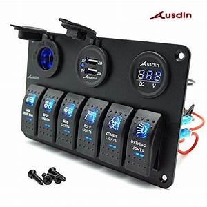 Switch Panel Ausdin Digital 12  24v Led Light Bar Rocker