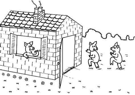 3 Little Pigs Coloring Pages Eskayalitim