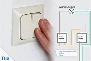 Lichtschalter Mit Kontrollleuchte Schaltplan : wechselschalter anschlie en anleitung zum anklemmen ~ Buech-reservation.com Haus und Dekorationen
