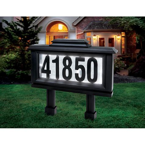 solar powered led light address plaque w numbers letters