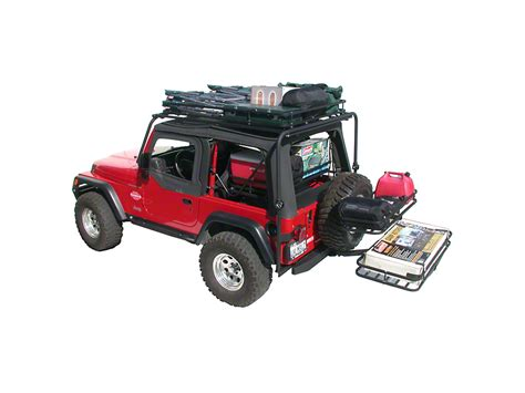 jeep cargo rack olympic 4x4 jeep wrangler dave s rack cargo carrier