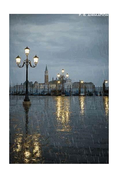 Venice Italy Rain Rainy Night Gifs Bluepueblo