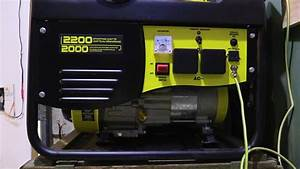 Off Grid  My Generator Wiring