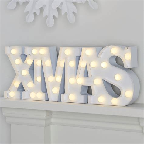 large light up xmas christmas sign by ginger ray