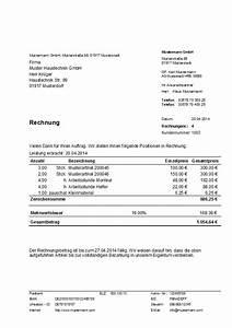 Rechnung Vodafone : muster rechnung erstellt mit dem programm hth rechnungen ~ Themetempest.com Abrechnung