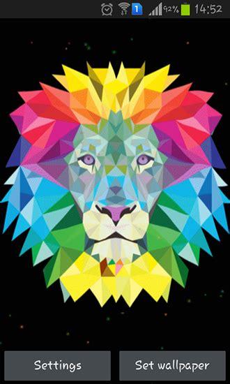 neon lion  android baixar gratis  papel de parede
