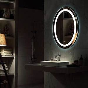 Miroir Rond Led : catgorie miroir du guide et comparateur d 39 achat ~ Teatrodelosmanantiales.com Idées de Décoration
