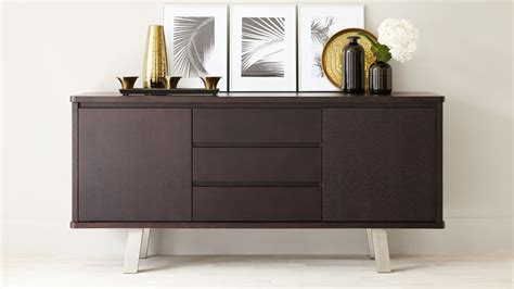 Darkwood Sideboard by Modern Wood Sideboard 2 Cupboards 3 Drawers Uk